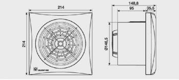 Exaustor para Banheiro Mod: Silent-300CRZ Plus C/Timer S&P  - Nova Exaustores