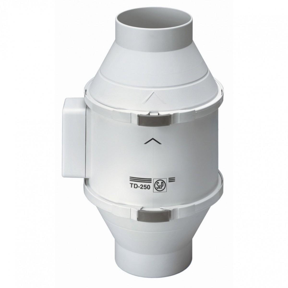 Exaustor p/Banheiro Helicocentrifugo InLine Mod: TD250/100 S&P  - Nova Exaustores