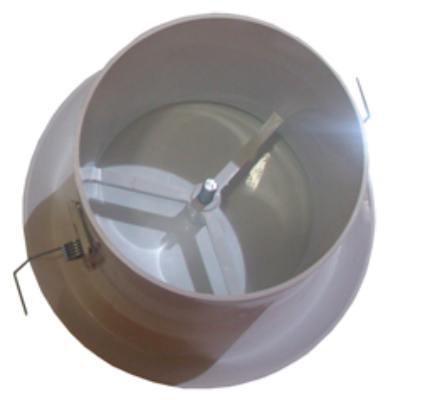 Grelha de Acabamento Interno Mod: Ventidec-125  - Nova Exaustores