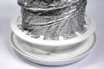 Grelha de Acabamento Interno p/Exaustor de Banheiro Mod: RVA-100  - Nova Exaustores
