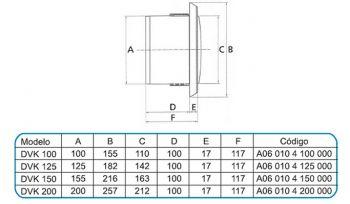 Grelha de Acabamento Interno Mod: Ventidec-200  - Nova Exaustores