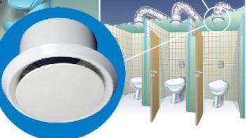 Grelha de Acabamento Interno p/Exaustor de Banheiro RVA-125  - Nova Exaustores