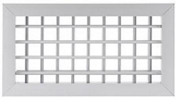 Grelha Dupla Deflexão em Aluminio Anod. Fosco  - Nova Exaustores