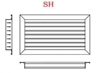 Grelha Simples Deflexão em Aluminio Anodizado Fosco  - Nova Exaustores
