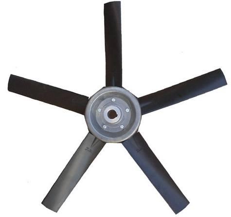 Hélice para Exaustor Diam. 400mm c/5 Pás em Nylon Preto 35°  - Nova Exaustores