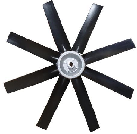 Hélice para Exaustor Diam. 400mm c/8 Pás em Nylon Preto 35°  - Nova Exaustores