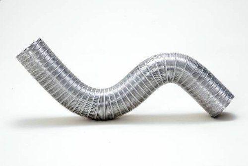 Kit 2 Duto Alum. Semi-flexivel 150mm C/3m + Luva + 4 Abraç.  - Nova Exaustores