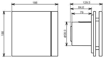 KIT 3 Exaustor Banh. Silent-100cz Design 110V + 5m Duto  - Nova Exaustores
