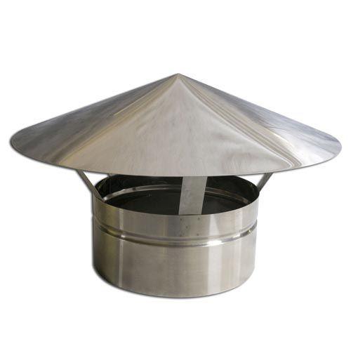 Kit Adaptador p/Churr. Pré-Mold. + 1m Duto + Chapéu 200mm  - Nova Exaustores
