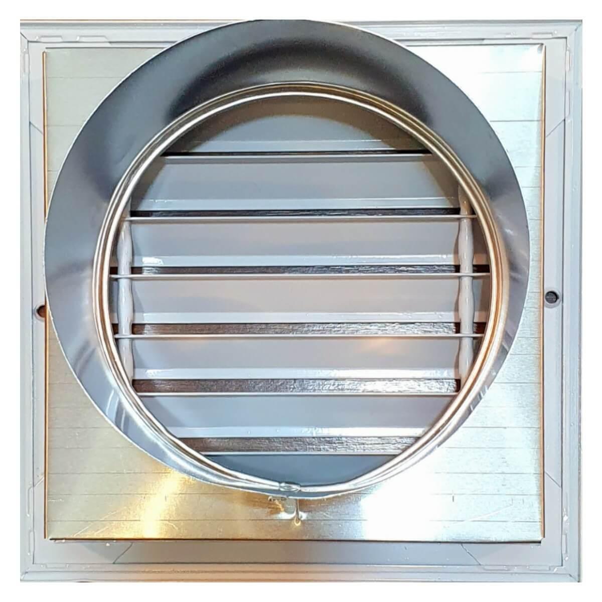 Kit Adaptador P/churr. Pré-mold. 200mm + 2 Curva 45°+ Grelha  - Nova Exaustores