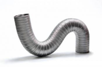Kit Duto Semi-flexivel Diam. 100mm C/1,5m + Anel + 2 Abraç.  - Nova Exaustores