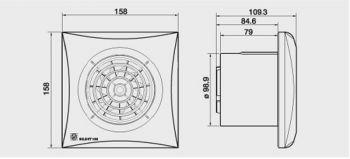 KIT Exaustor Banheiro Silent-100cz 220V +2m Duto+Grelha GVAF  - Nova Exaustores