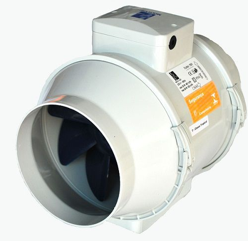 Kit Exaustor Turbo-100 + Grelha Int/ext. + 6mts Duto Flex.  - Nova Exaustores