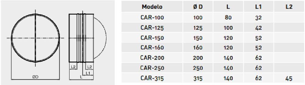 Kit Exaustor Turbo-100 + Valvula Anti-retorno + Luva + Abraç  - Nova Exaustores
