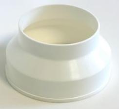 Luva de Redução p/Exaustor de Banheiro Plastica 5 pol. x 4 pol.  - Nova Exaustores