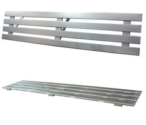 Prateleira em Aço Inox p/Cozinha Industrial  - Nova Exaustores