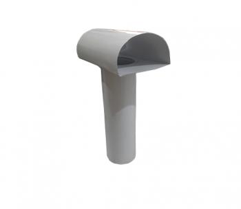 TEE Ventilante p/Saida de Coifa ou Aquecedor Compr. 300 mm  - Nova Exaustores