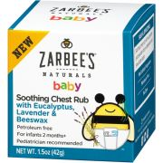 Babyrub Soothing Chest Zarbees 42g