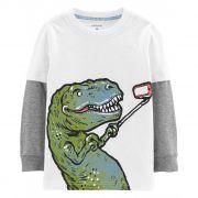 Camiseta Manga Longa Dinossauro