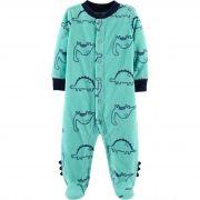 Macacão em Fleece Infantil Carters Dinossauros com Pé
