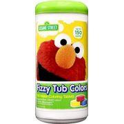 Pastilhas Coloridas para Banho Sesame Street Fizzy Tub Color - 150 pastilhas