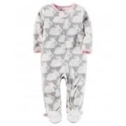 Pijama Carters Animais com Pé - Fleece