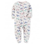 Pijama Carters Cachorrinhos com Pé - Fleece