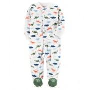 Pijama Infantil Carters Dinossauros com Pé - Fleece