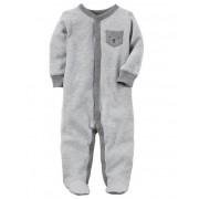 Pijama Infantil Carters Ursinho com Pé - Malha
