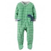 Pijama para crianças dinossauro com pé - Fleece