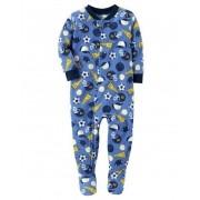 Pijama para crianças esportes com pé - Fleece