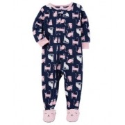 Pijama para crianças gatinhas com pé - Fleece