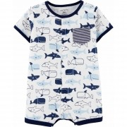 Romper Carters Tubarões