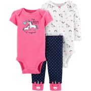 Set Carters 3 pçs Body Rosa Unicórnio