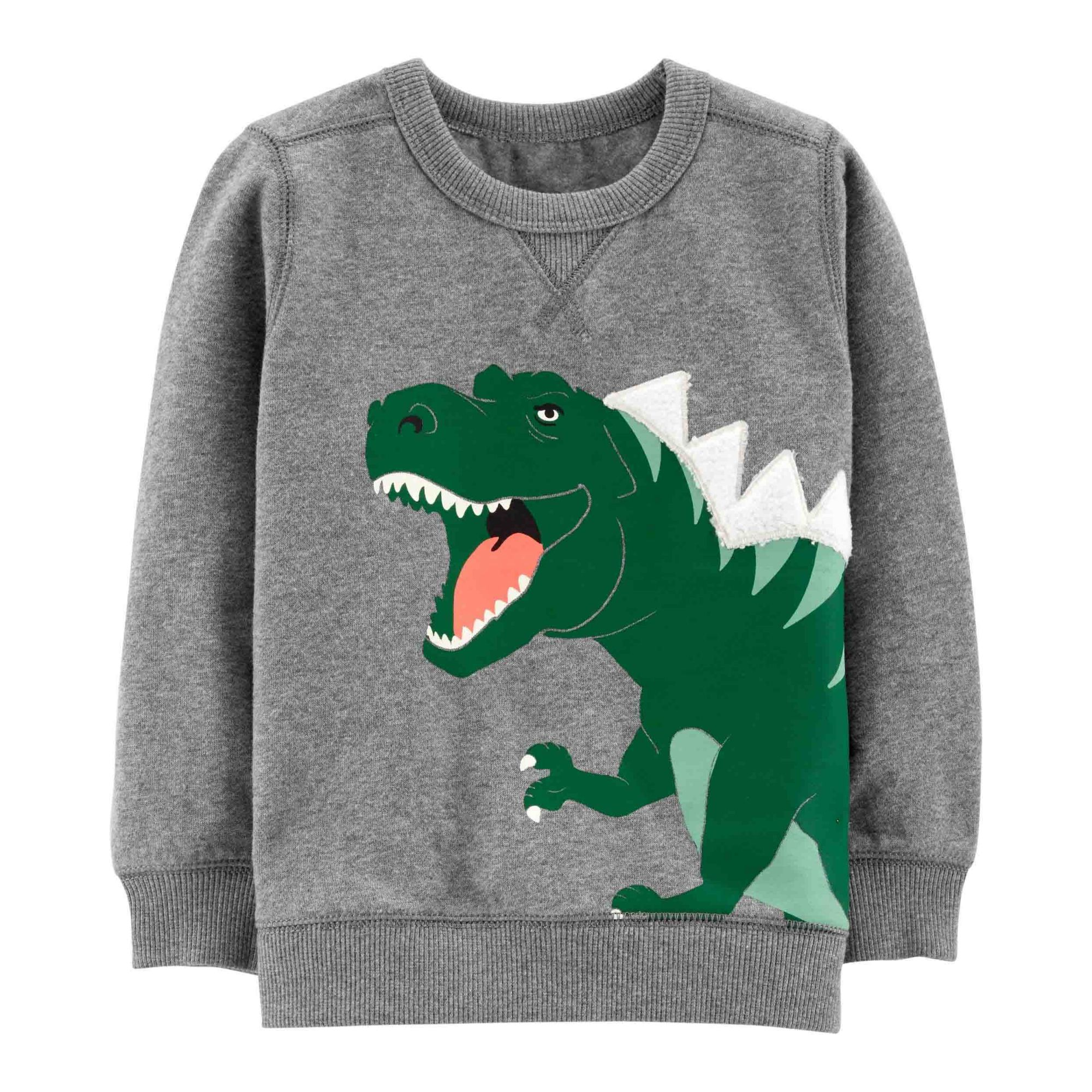 Blusa Moletom Cinza Dinossauro