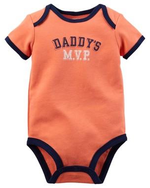 Body Infantil Carters Masculino Laranja Daddys MVP