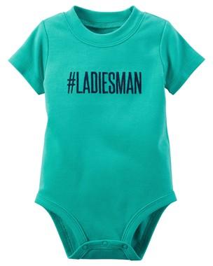 Body Infantil Carters Masculino Verde Ladiesman