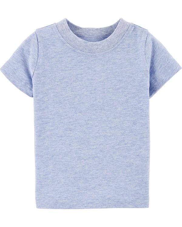 Conjunto 2 Peças Jardineira Branca e Camiseta Azul