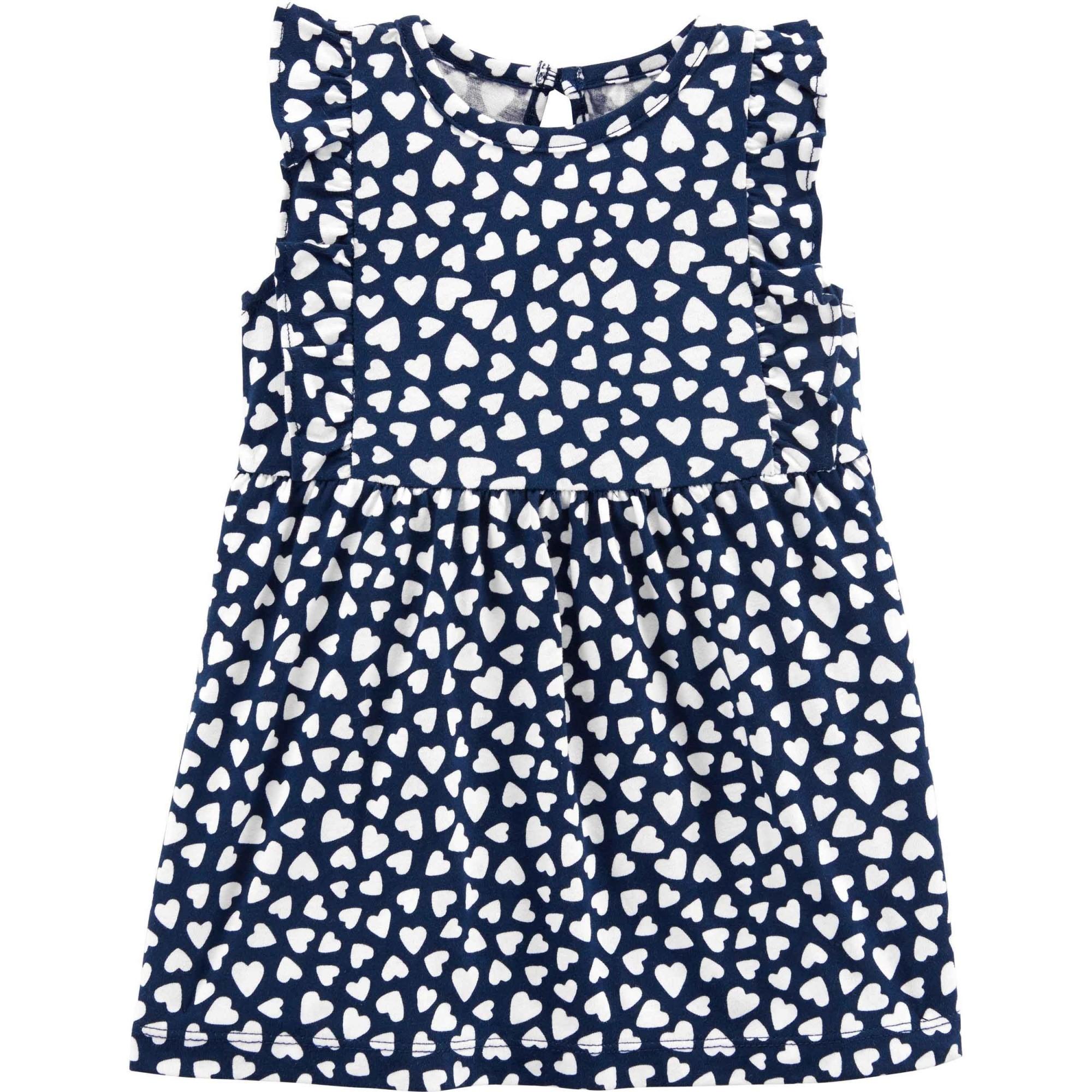 Conjunto Carters 2 peças Vestido Azul Corações
