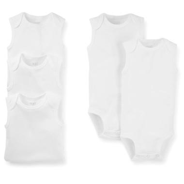 Conjunto Carters 5 Pçs Body Regata Branco