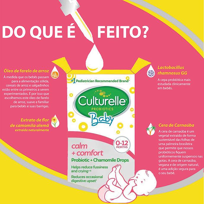 Culturelle Baby Calm + Comfort Probiotics + Chamomile Gotas