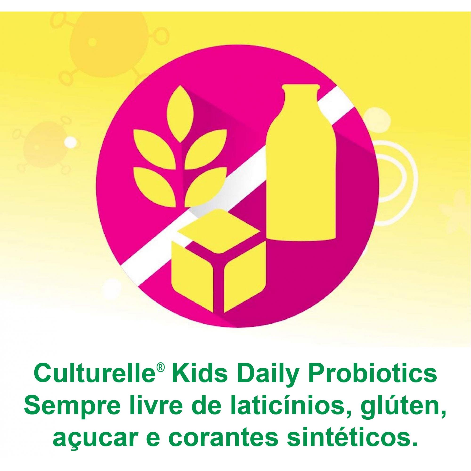 Culturelle Kids Probiótico Diário Infantil Tabletes - Importado