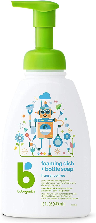 Detergente sem fragrância para mamadeiras e pratos - BabyGanics
