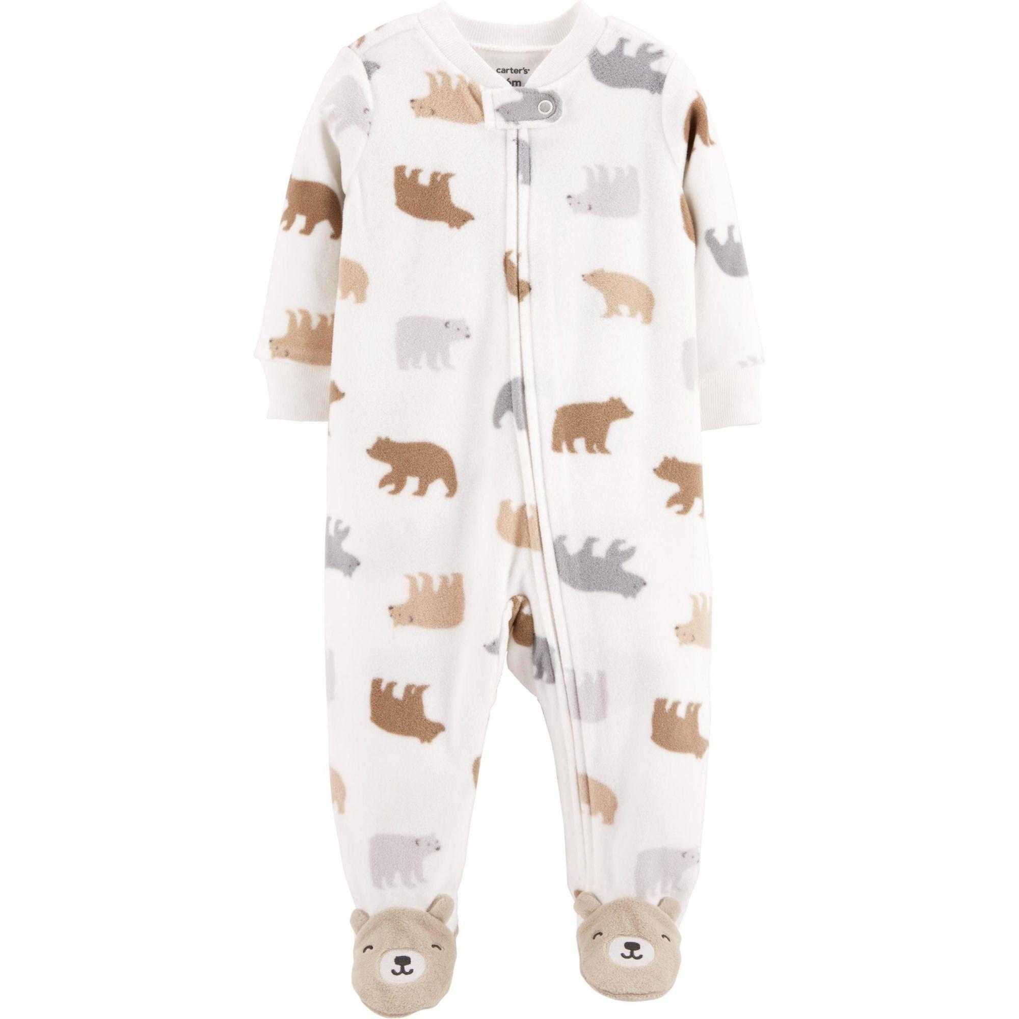 Macacão em Fleece Infantil Carters Ursinhos com Pé