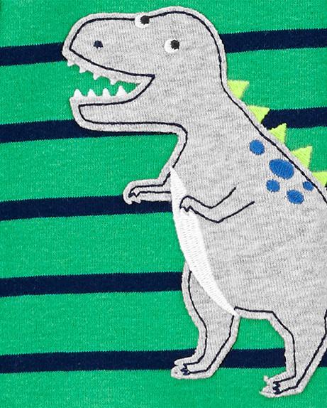 Macacão em Malha Infantil Carters Dinossauro com Pé