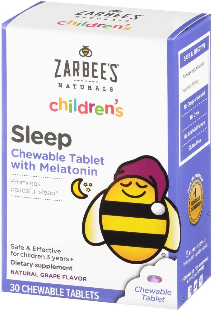 Melatonina Infantil Zarbees Sleep 30 Tabletes - CAIXA DANIFICADA