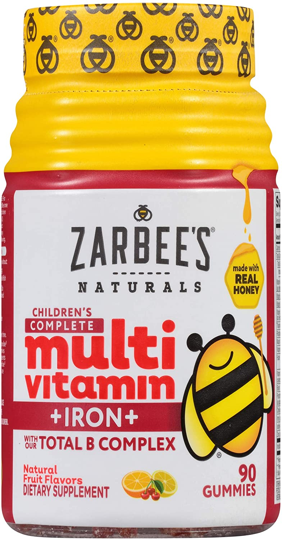 Multivitamínico Infantil com Ferro Zarbees Naturals Children´s 90 Gomas