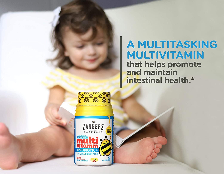 Multivitamínico Infantil com Probiótico Zarbees Naturals Children´s 70 Gomas
