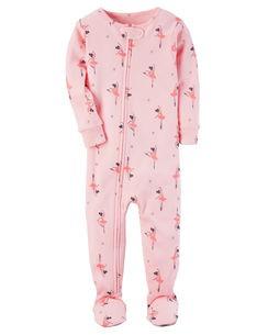 Pijama Carters Bailarinas com Pé - Malha