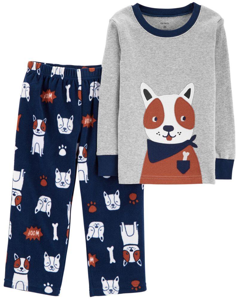 Pijama Infantil Fleece 2 peças Cachorrinho